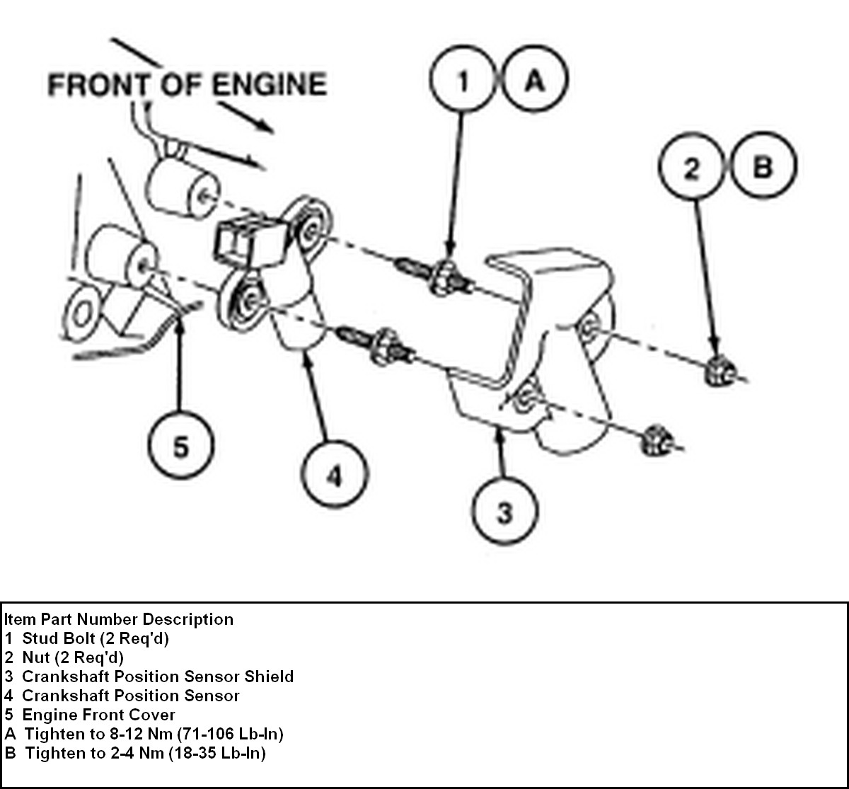ford thunderbird 1997 speed sensor v6