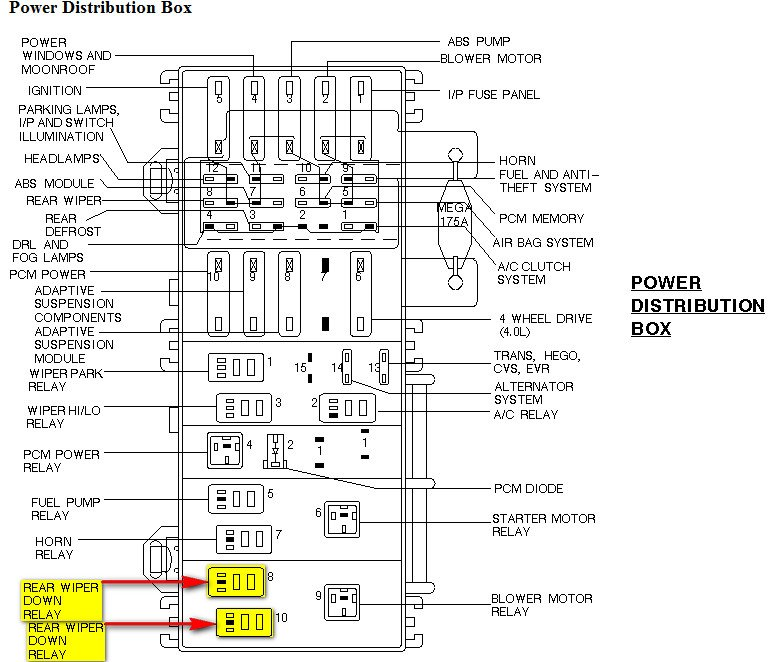 98 ford explorer windshield washer wiring diagram 2001