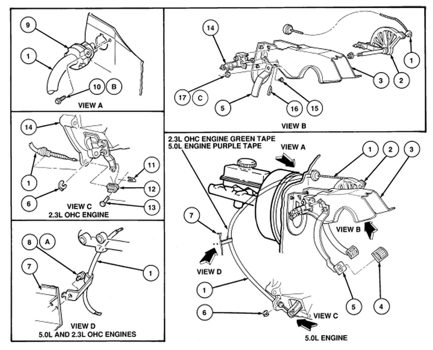 93 50 Mustang Has A Stiff Clutch Engaged Right At The Floor Level Ford Aspire Wiring Diagram Graphic