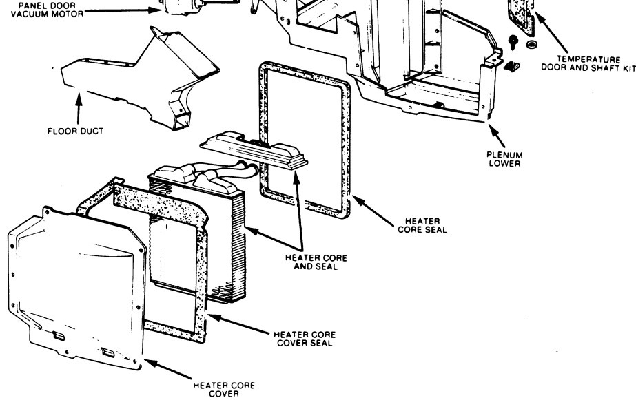 need instructions to change out a heater core Ford 5.4 Heater Hose Diagram graphic