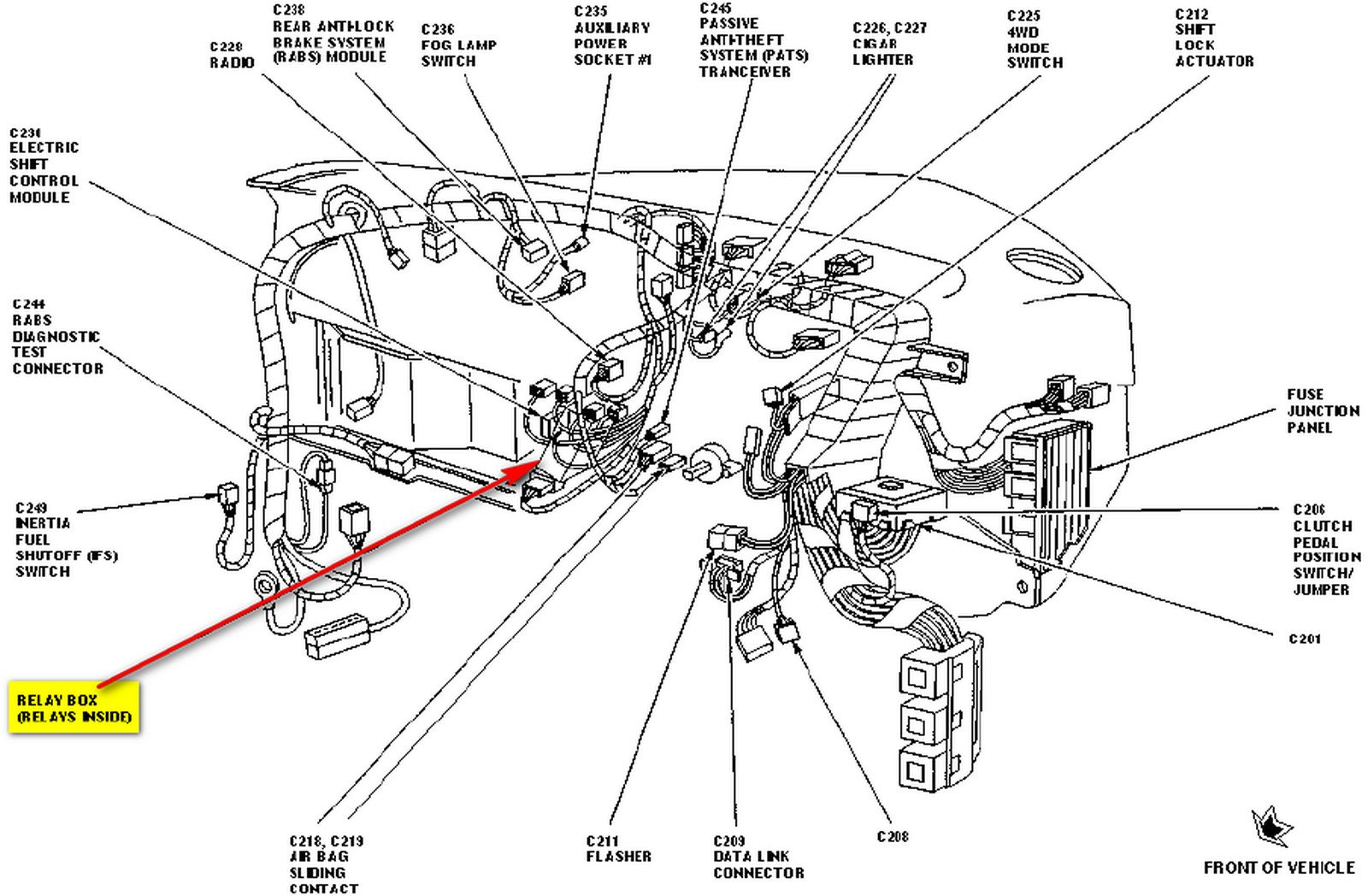 1999 Ford Ranger Relay Diagram Wiring Diagrams Scematic Electrical F 150 Where Do I Find The For Power Door Locks On A 99 Fuse Box