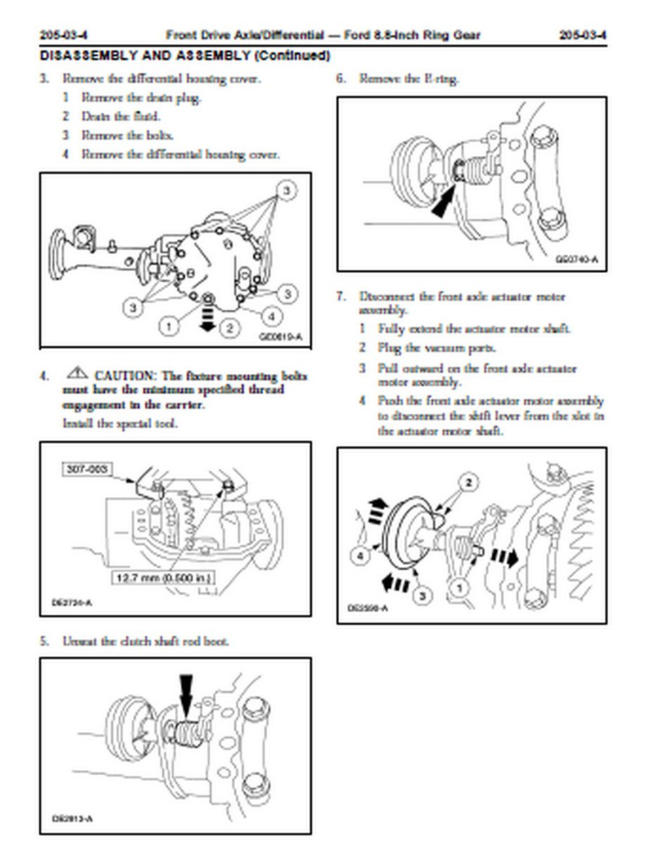 How to replace front differential shift fork on 2003 F150 ...