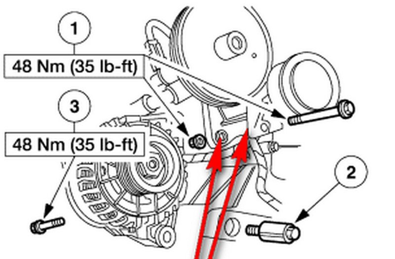 service manual  how to remove a 2004 lincoln ls alternator