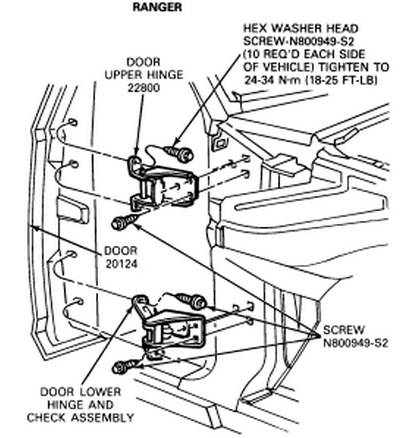 Are Special Tools Required To Replace The Lower Left Door Hinge On A