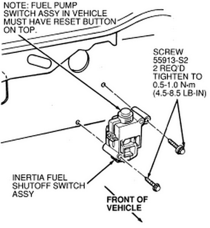 2003 ford explorer fuel pump location