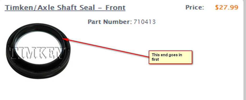 Installing All New Seals In A 2002 F350 4x4 Front Axle  Cannot Tell Which Direction Seals Go