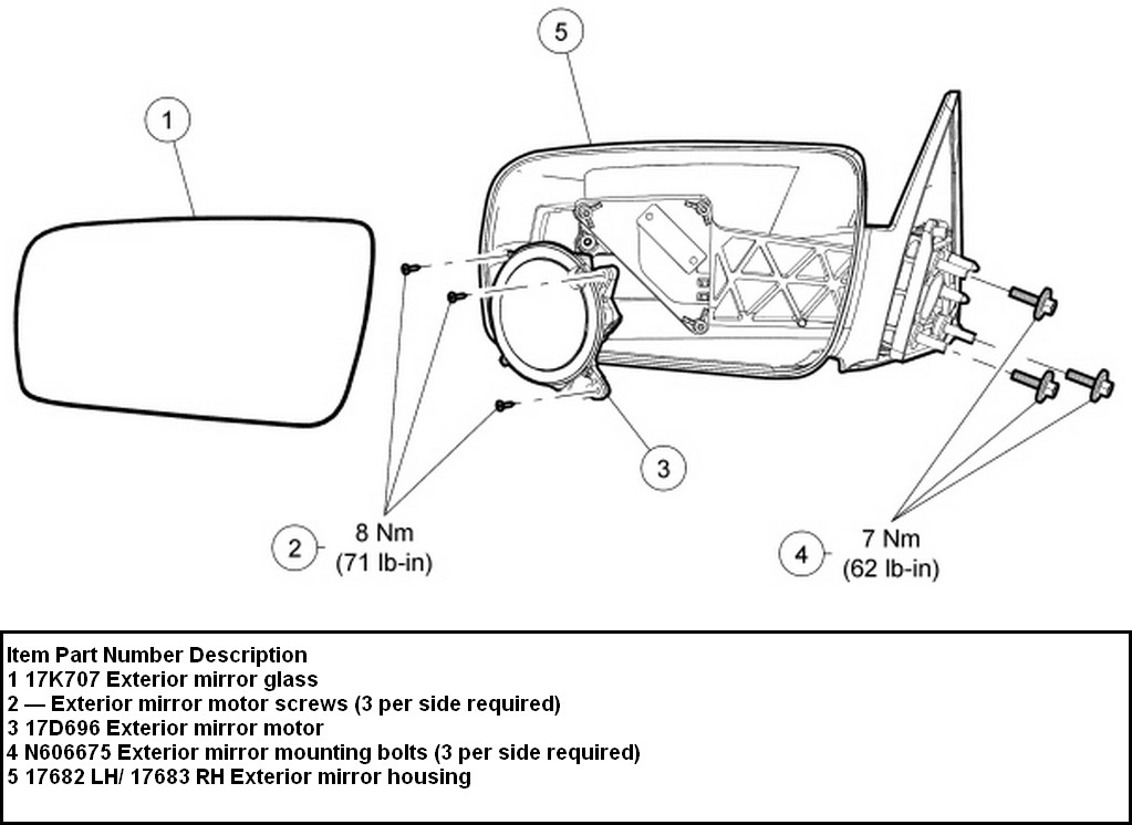 How to re-attach backing plate in passenger side mirror