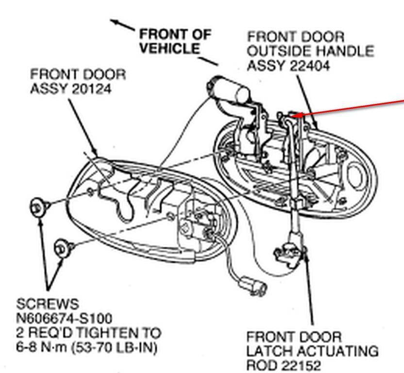 Replace Door Lock On  U0026 39 97 Taurus