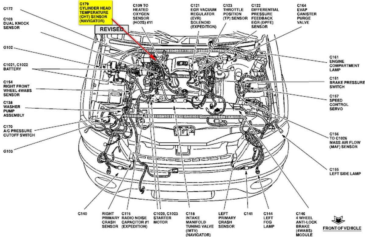 2003 lincoln aviator engine diagram