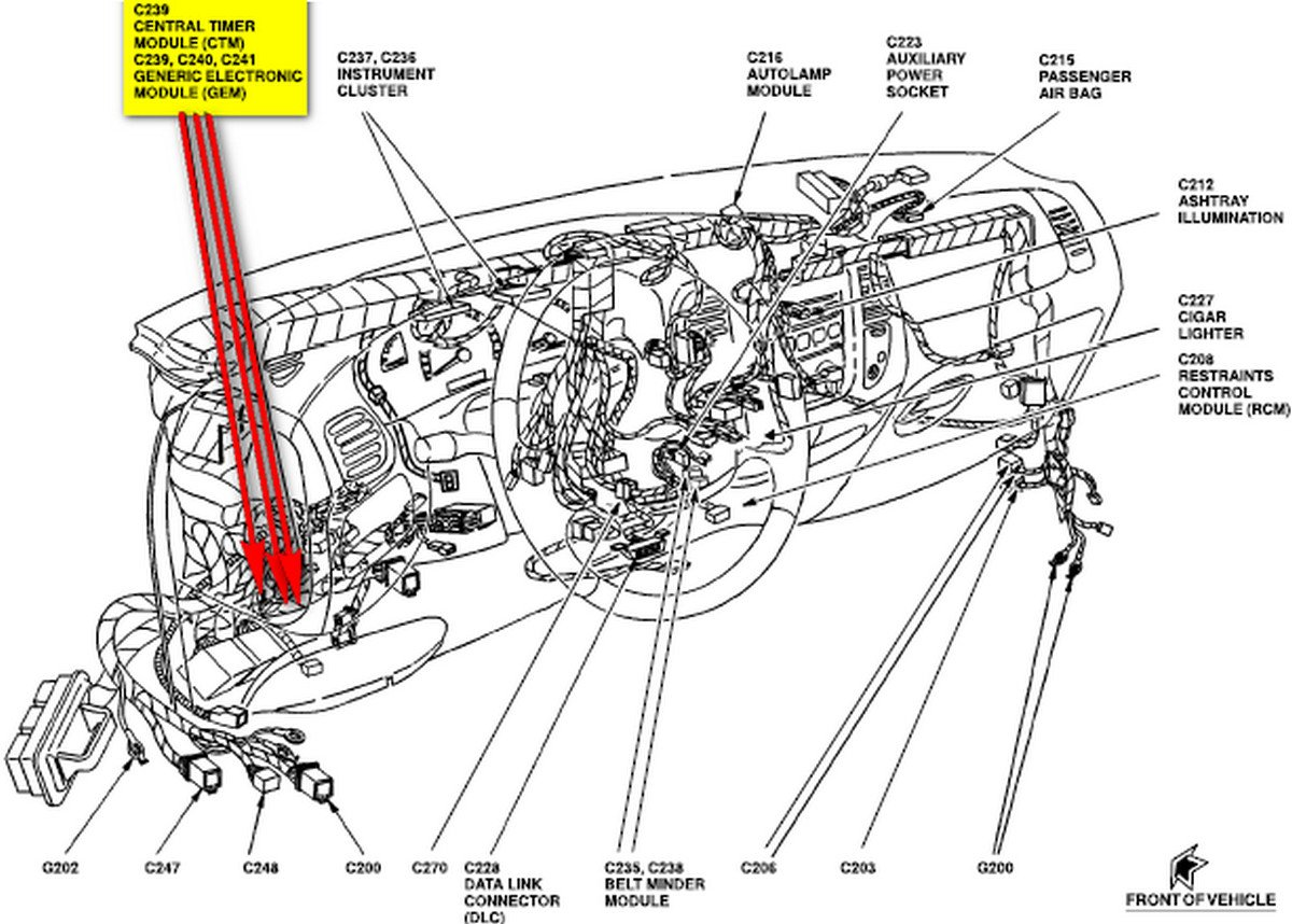 type your question here   where is the gem module on a f150 2001