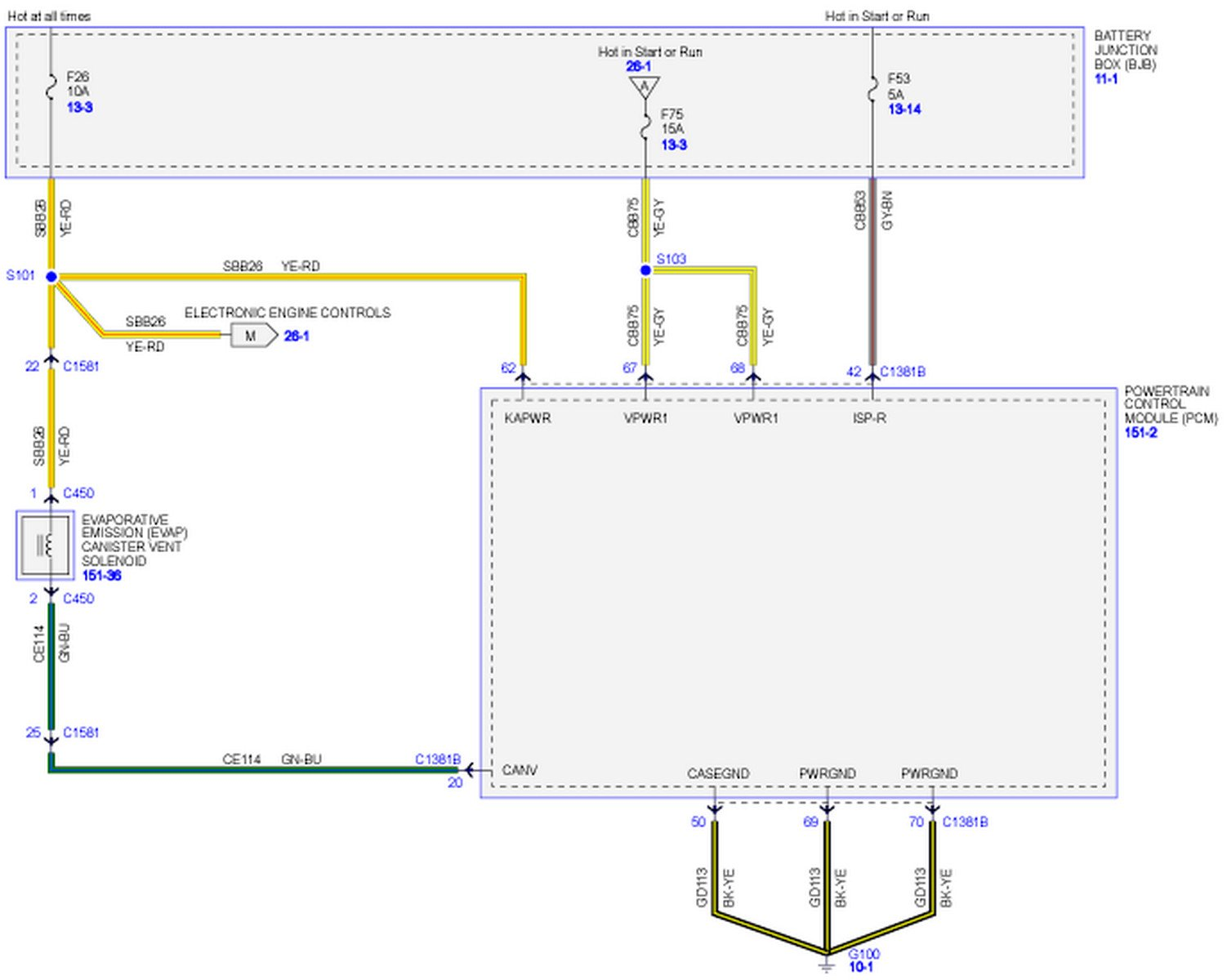 I Need A Pcm Wiring Schematic For A 2011 F150 With 6 2