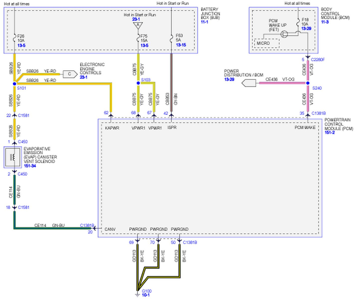 I need a pcm wiring schematic for a 2011 f150 with 6.2 ...