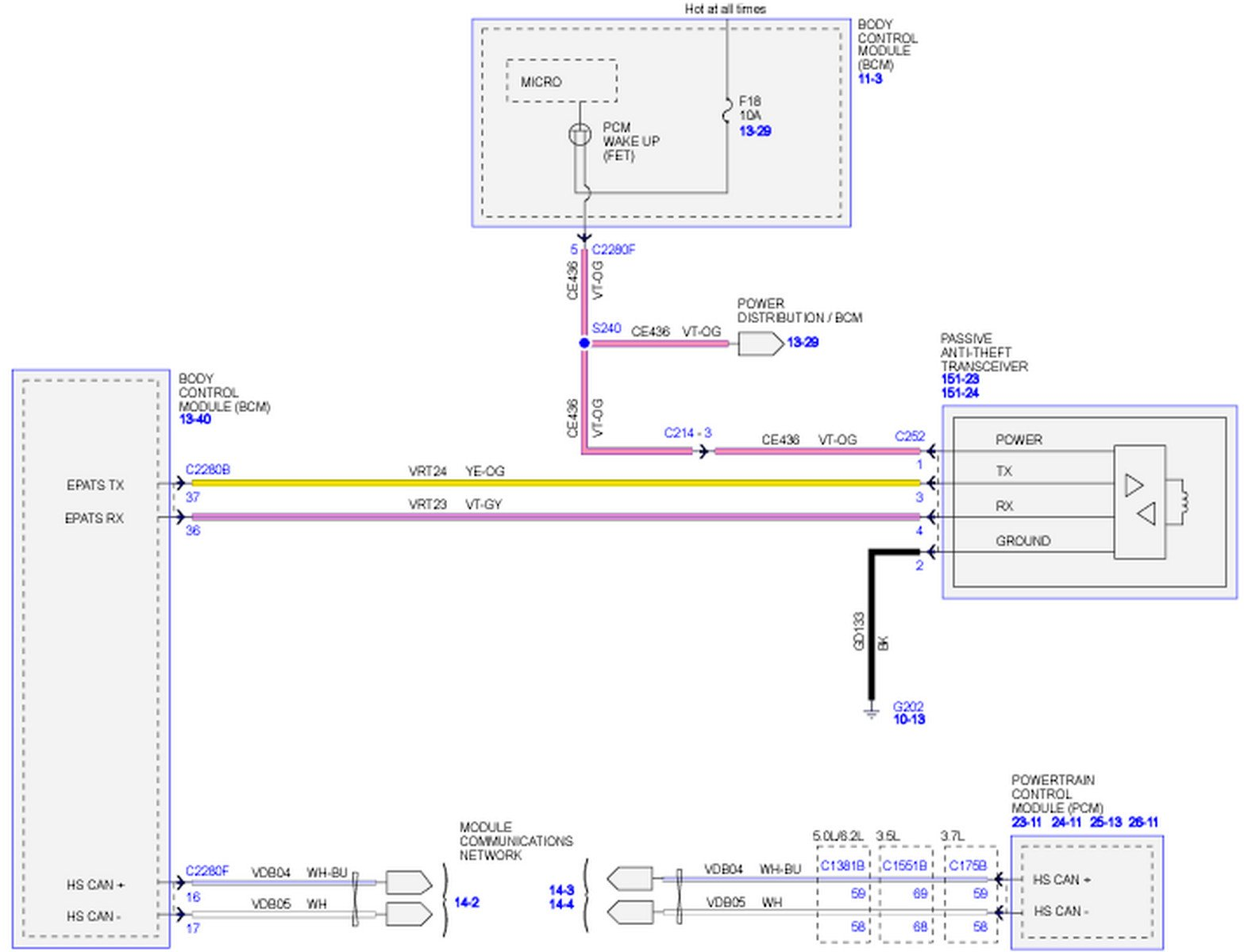 I Need A Pcm Wiring Schematic For 2011 F150 With 62 Engine Am Ford Wire Harness Plugs Graphic