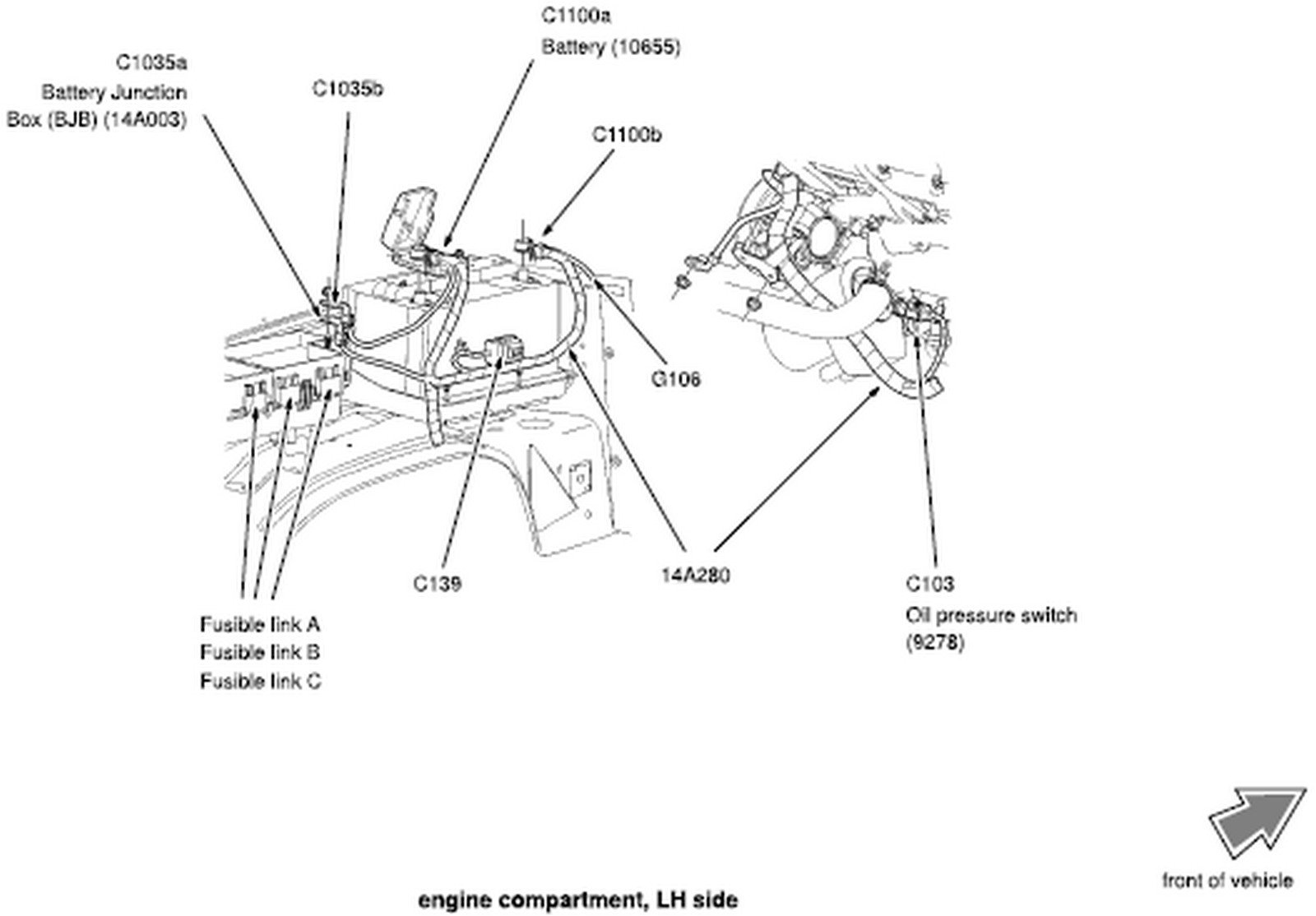 2015 ford focus hood latch diagram