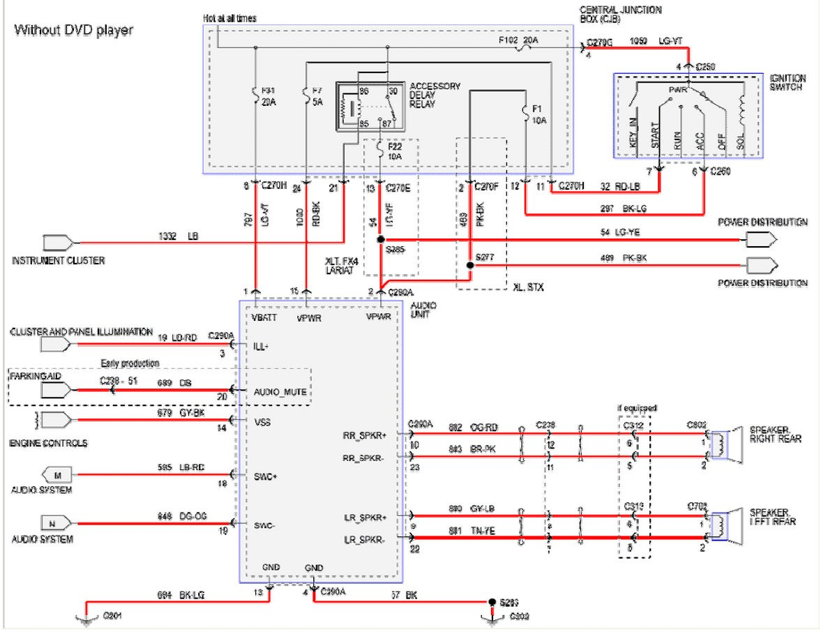 2004 f 350 stereo wiring diagram ford f 350 stereo wiring diagram #6