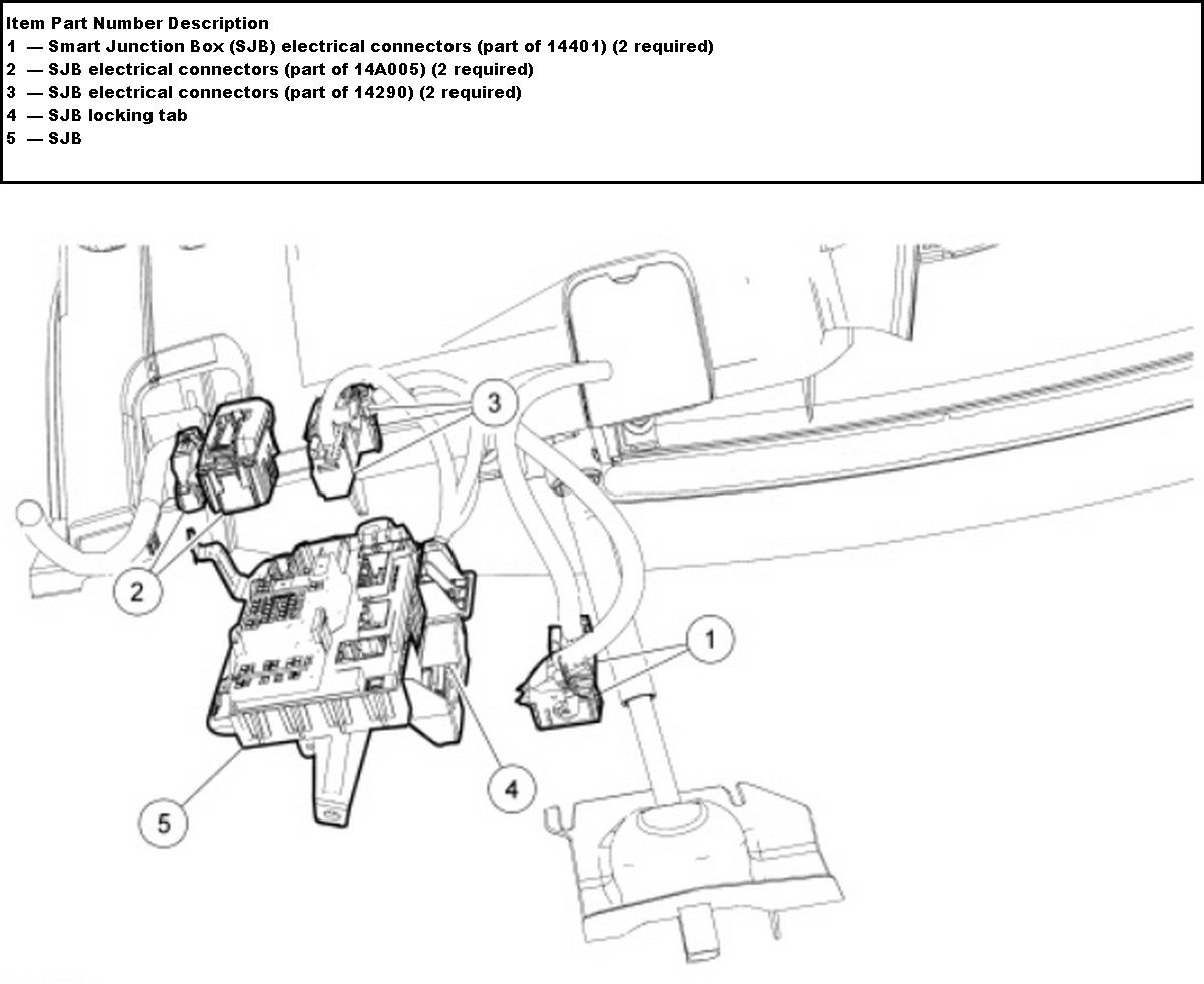 2010 Ford Edge Fuse Box Diagram Wiring Harness Wiring Diagram