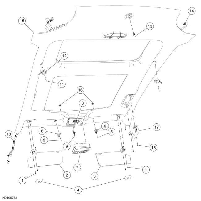 car overhead console