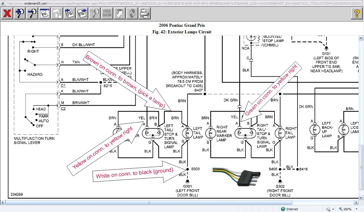 2006 Pontiac Grand Prix Stereo Wiring Diagram Diagrams Cm Trailer 4 Wire Get Free Image About 04