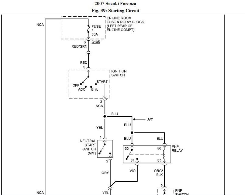 forenza wiring diagram wiring diagram Alternator Wiring Diagram for 2004 Suzuki Forenza