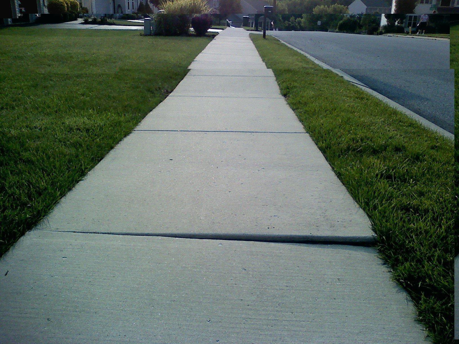 Advice on leveling a concrete sidewalk for Concrete advice