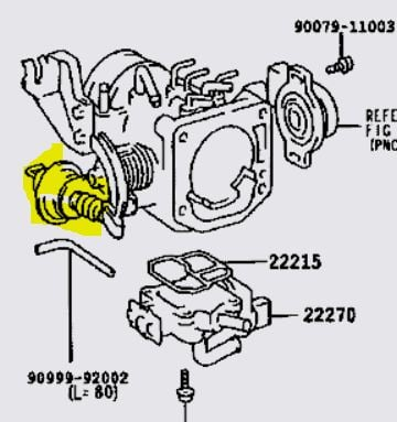 i just changed my throttle body on my 96 tacoma the rpms are at rh justanswer com Toyota Tacoma OEM Parts Diagram Toyota Tacoma Door Parts Diagram