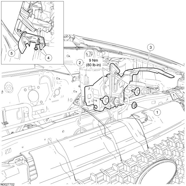 2015 ford focus hood latch diagram  ford  auto parts