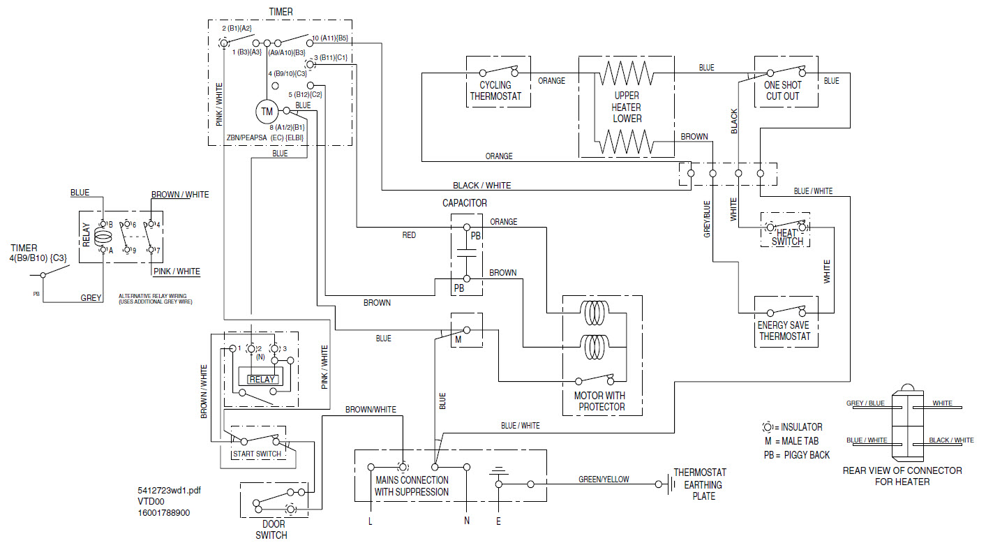 Indesit Refrigerator Wiring Diagram : I got a indesit is vs the belt broke other day and