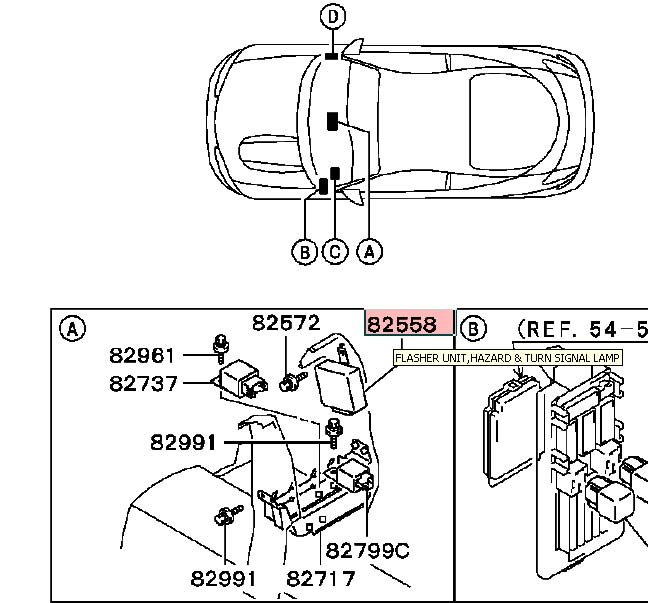 2r2oh Flasher Relay Located Eclipse 1997 on 2003 Mitsubishi Lancer Radio Wiring Diagram