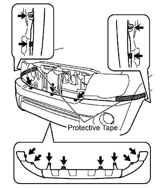 Just wondering how to remove my    front    and rear bumpers on my 2009    toyota    taa  any    diagrams    do