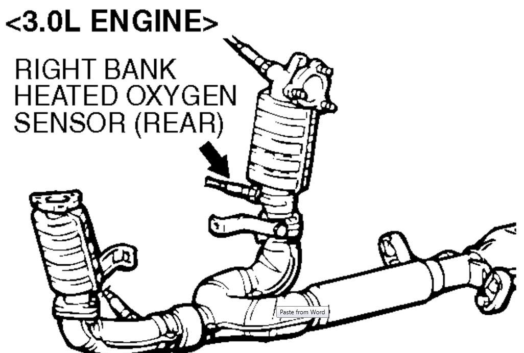 i have a automatic v6 2001 mitsubishi eclipse and i got a reading ofleft front sensor, also known as bank 2 sensor 1, it is located on the radiator side and is accessed from the top illustration is viewed from the top,