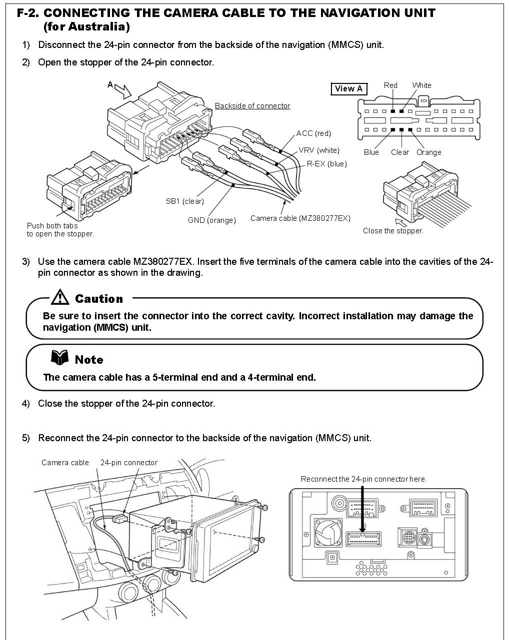 How Do I Remove The Wires From A 24 Pin Connector In My Mmcs Unit So Camera Phone Wire Wiring Diagram Graphic