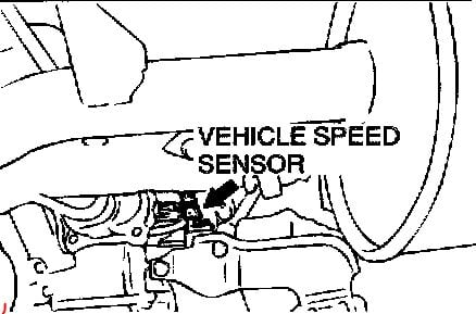 53nrb Mitsubishi Montero Limited Remove Speed Sensor
