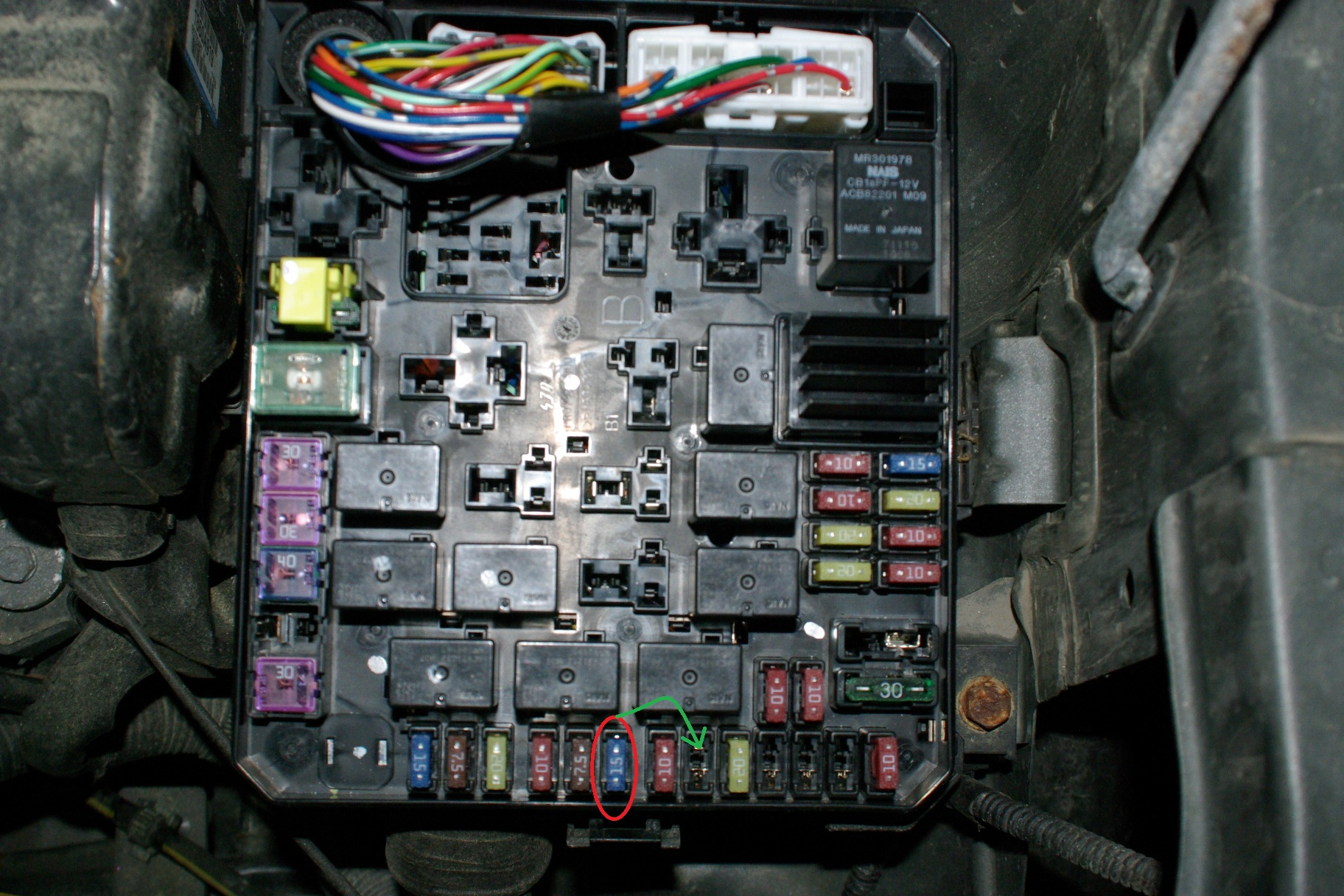 Imgp on 2003 Mitsubishi Outlander Fuse Box Diagram