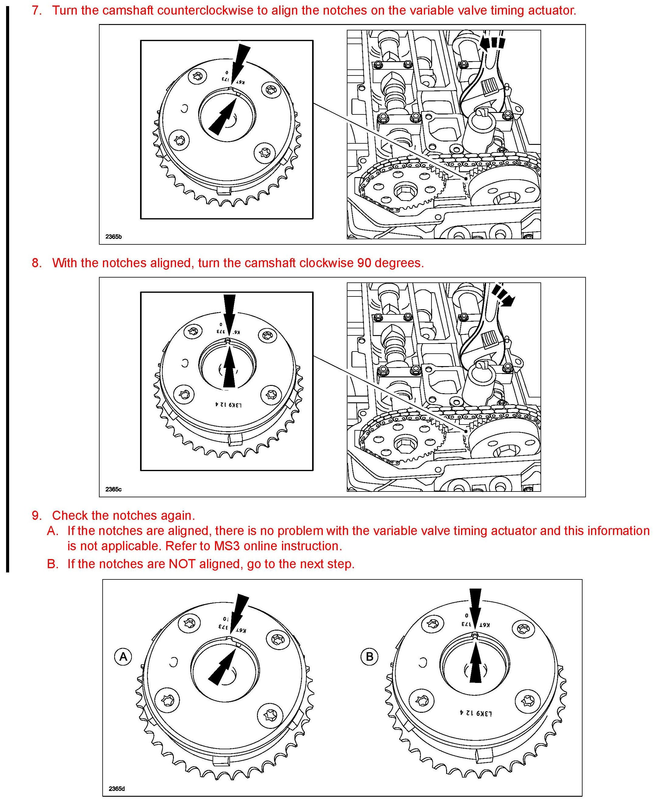 What Is The Timing Marks On The Vvt On Intake Cam I: What Is The Timing Marks On The Vvt On Intake Cam, I
