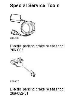 jaguar parking brake fault alarm