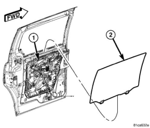 How Do You Install Cargo Door Glass On 2008 Dodge Grand