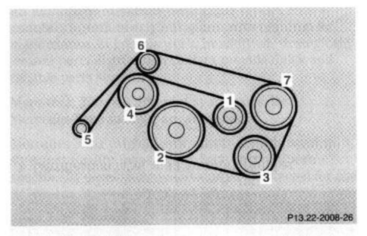 22re engine belts diagram need to replace serpentine belt in ml320, what else should ...
