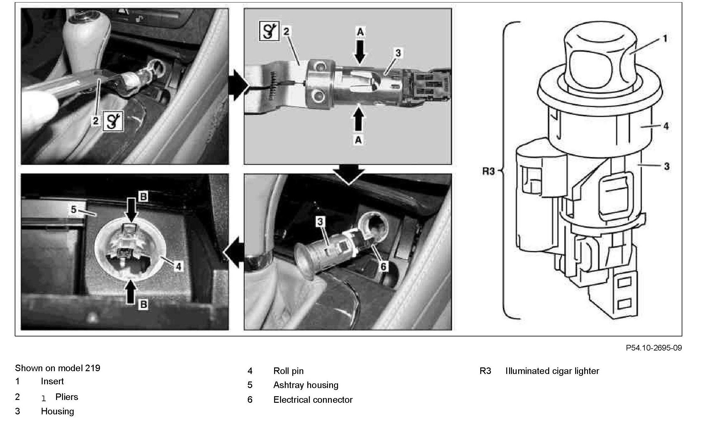 Mercedes W211 Wiring Cigarette Lighter Diagram Plug On Car Housing To Replace Assembly M Slk 280 For Dash