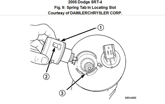 step by step instructions on replacing my fuel filter on dodge neon srt