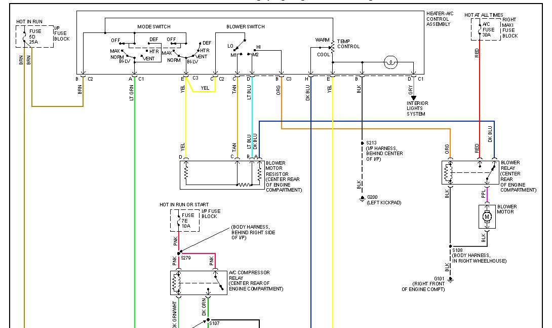 1997 Oldsmobile 88 Blower Wiring Diagram