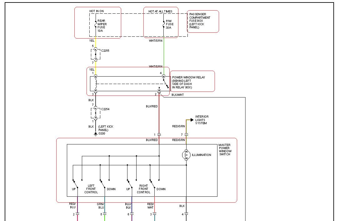 2000 kia sportage power window relay location