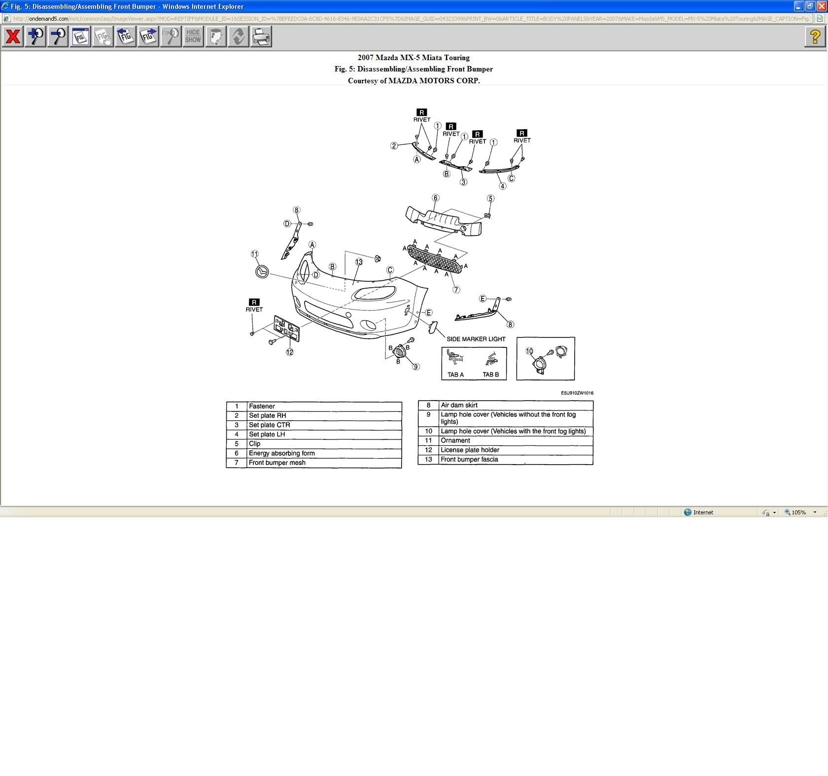 2007 Mazda Miata Engine Diagram Schematic Diagrams 5 Bumper All Kind Of Wiring U2022