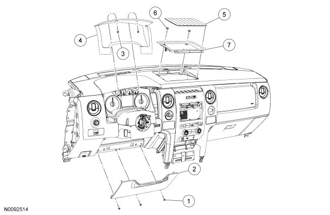 service manual  how to remove dash panel from a 2009 lotus