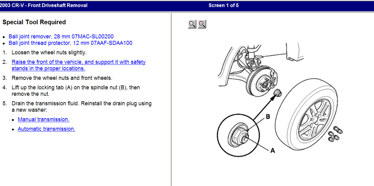 How To Replace Cv Joint Half Shafts On 2003 Honda Crv