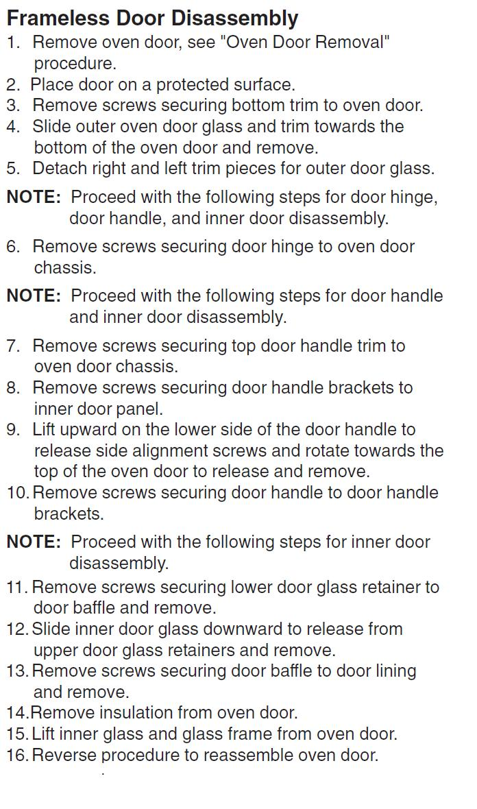 How to replace inner glass on oven door oven door handle repair picture graphic eventelaan Images