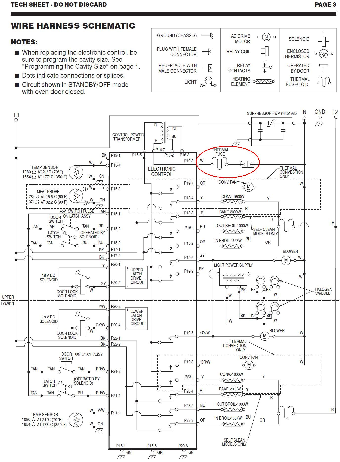 Model KEBC278KSS0 Kitchenaid double wall oven Problem started – Kitchenaid Oven Wiring Schematic