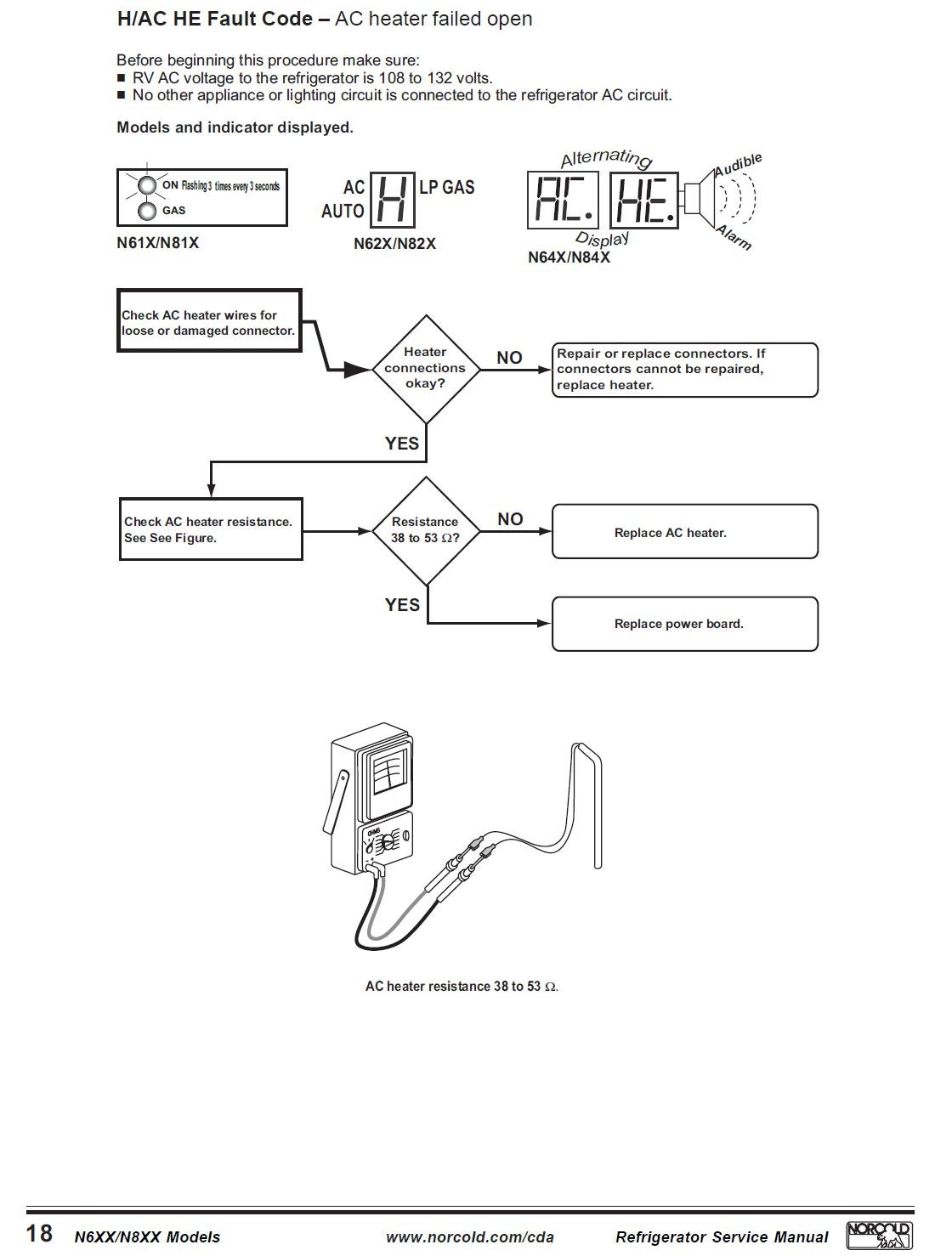 Norcold Fridge Flashing H Code What Do I Need To Replace Refrigerator Wiring Schematic Graphic