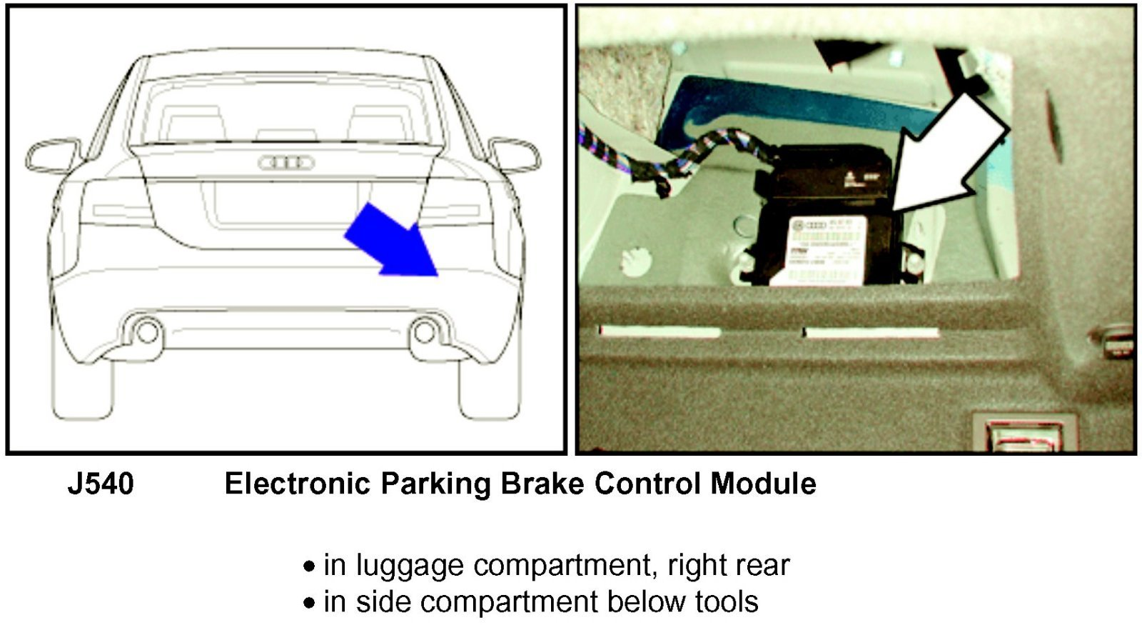 Audi A6: The electronic parking brake     manually     release