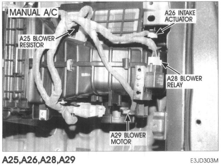2003 Hyundai Santa Fe Blower Switch Assembly Heater Fan