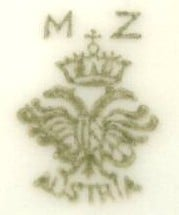 How do I find a price for a plate marked MZ Austria with a crown